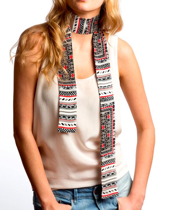 Silk skinny scarf